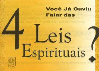 ENSINAMENTOS BÁSICOS DO CRISTIANISMO, As Quatro Leis Espirituais (Discipulado Lição 2)
